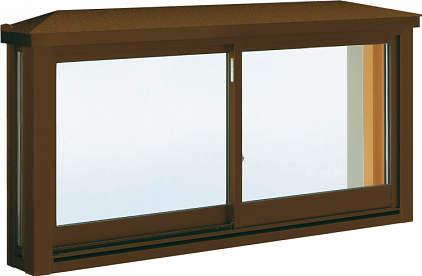 YKKAP窓サッシ 出窓 台所用[出窓220][Low-E複層防音ガラス] 角型出窓[標準屋根] アルミ樹脂複合障子[Low-E透明5mm+透明4mm]:[幅2600mm×高570mm]
