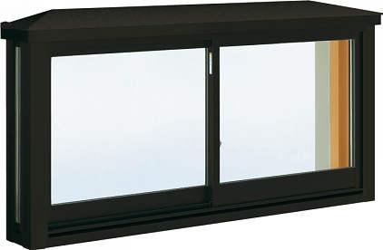 YKKAP窓サッシ 出窓 台所用[出窓220][Low-E複層防犯ガラス] 角型出窓[雨音軽減屋根] アルミ樹脂障子Low-E透明4mm+合わせ透明7mm:[幅1235mm×高570mm]