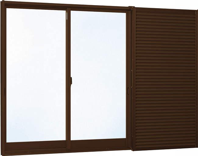 YKKAP窓サッシ 引き違い窓 エピソード[Low-E複層防犯ガラス] 2枚建[雨戸付] 半外付型[Low-E透明3mm+合わせ型7mm]:[幅1845mm×高1170mm]