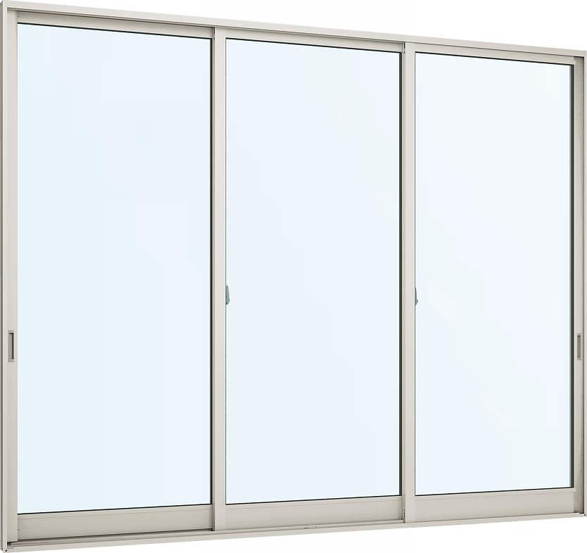 YKKAP窓サッシ 引き違い窓 フレミングJ[Low-E複層ガラス] 3枚建 半外付型:[幅2600mm×高2230mm]【YKKアルミサッシ】【3枚戸】【遮熱ガラス】【断熱ガラス】【ローイガラス】