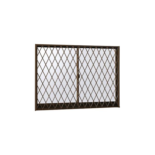 訳あり商品 ラチス格子[半外付型][透明4mm+透明3m]:[幅1640mm×高1370mm]【アルミサッシ】【格子付き窓】【面格子付き引違い窓】【防音サッシ】:ノース&ウエスト 2枚建[面格子付] 引き違い窓 フレミングJ[複層防音ガラス] YKKAP窓サッシ-木材・建築資材・設備