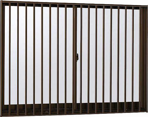 YKKAP窓サッシ 引き違い窓 エピソード[複層防音ガラス] 2枚建[面格子付] 縦格子[半外付型][透明5mm+透明4mm]:[幅1235mm×高570mm]