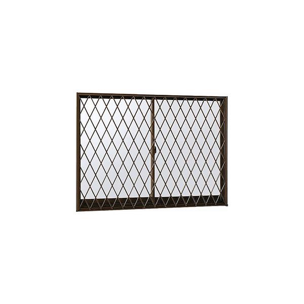 YKKAP窓サッシ 引き違い窓 エピソード[複層防音ガラス] 2枚建[面格子付] ラチス格子[半外付型][透明5mm+透明3m]:[幅870mm×高1170mm]