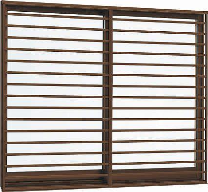 YKKAP窓サッシ 引き違い窓 エピソード[複層防音ガラス] 2枚建[面格子付] 横格子[半外付型][透明5mm+透明4mm]:[幅1370mm×高970mm]