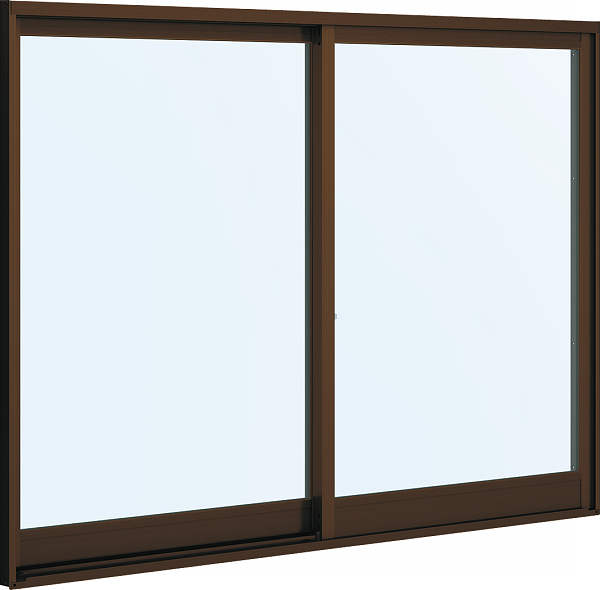 YKKAP窓サッシ 引き違い窓 フレミングJ[複層防犯ガラス] 2枚建 内付型[型4mm+合わせ透明7mm]:[幅1690mm×高970mm]【YKKアルミサッシ】【防犯フィルム】【合わせガラス】【2重ガラス】