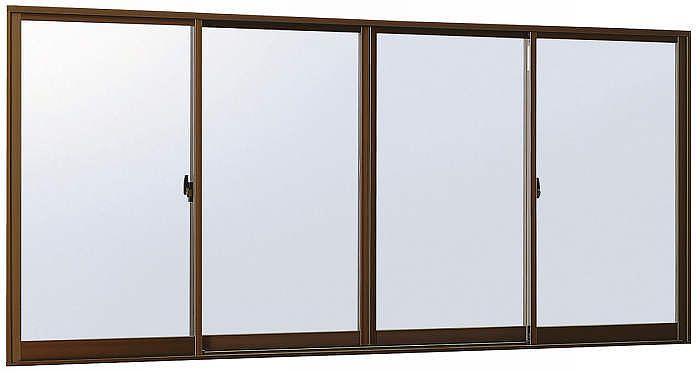 YKKAP窓サッシ引き違い窓エピソード[Low-E複層ガラス]4枚建半外付型:[幅2550mm×高1170mm]