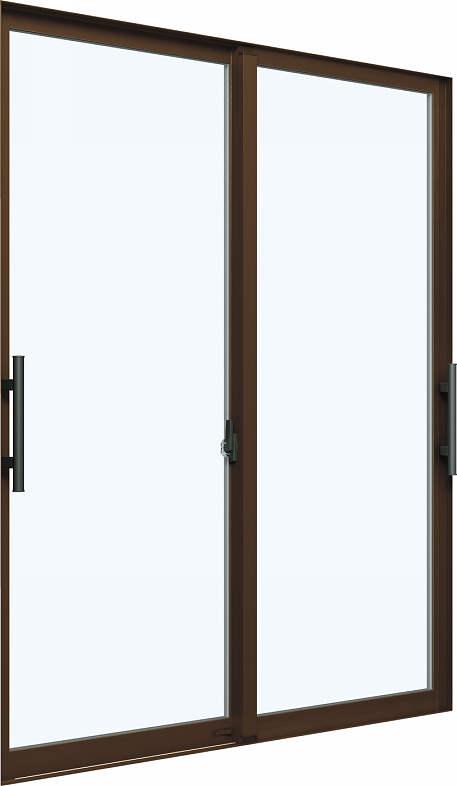 YKKAP窓サッシ 引き違い窓 エピソード[Low-E複層ガラス] 2枚建[下枠ノンレール] 大型引手[キックプレート有]:[幅1870mm×高2030mm]【YKKアルミサッシ】【断熱サッシ】【フラットレール】