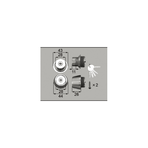 LIXIL補修用部品 ドア・引戸用部品 錠 玄関・店舗・勝手口・テラスドア ロック:シリンダーセット[DCAZ201]【リクシル】【TOSTEM】【トステム】【アルミドア】【ハンドル】【鍵】【錠】