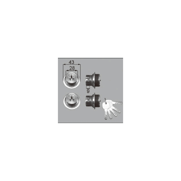 LIXIL補修用部品 ドア・引戸用部品 錠 玄関・店舗・勝手口・テラスドア ロック:シリンダーセットJN[DCZZ1026]【リクシル】【TOSTEM】【トステム】【アルミドア】【ハンドル】【鍵】【錠】