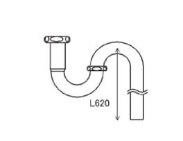 LIXIL補修用部品 住器用部品 洗面 排水 排水部品:金属排水管Sトラップセット[KAALQZZ0002]【リクシル】【TOSTEM】【トステム】【排水管】【排水パイプ】