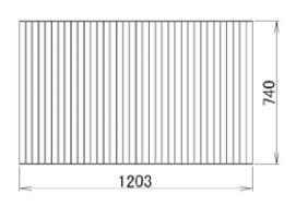 LIXIL補修用部品 住器用部品 バスルーム 浴槽 浴槽蓋:巻き蓋 740×1203[RMBX026]【リクシル】【TOSTEM】【トステム】【風呂蓋】【巻きフタ】【浴槽】【フタ】