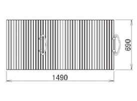 LIXIL補修用部品 住器用部品 バスルーム 浴槽 浴槽蓋:ハンドル付巻き蓋 690×1490[RTPS004]【リクシル】【TOSTEM】【トステム】【風呂蓋】【巻きフタ】【浴槽】【フタ】