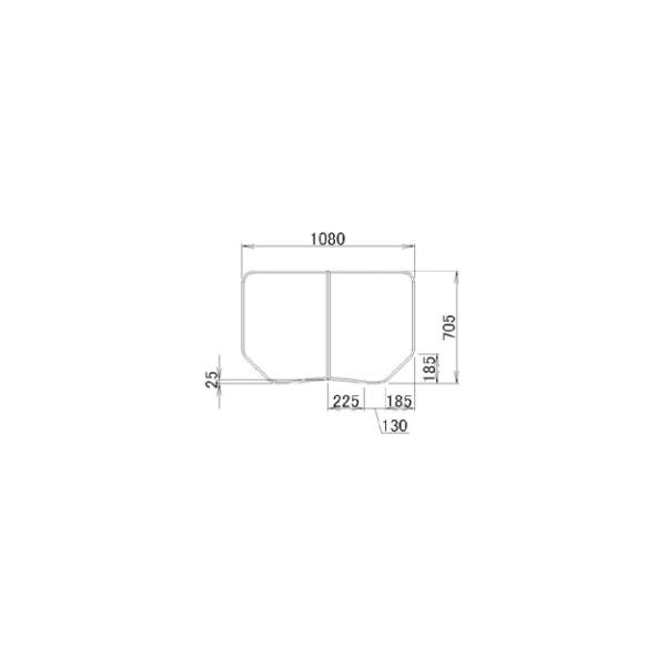 LIXIL補修用部品 住器用部品 バスルーム 浴槽 浴槽蓋:組み蓋 705×1080[RTPS009]【リクシル】【TOSTEM】【トステム】【風呂蓋】【巻きフタ】【浴槽】【フタ】