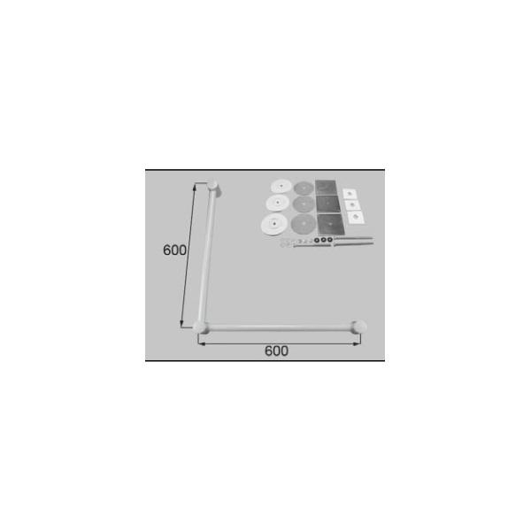 LIXIL補修用部品 住器用部品 バスルーム 器具 握りバー・タオル掛け:樹脂製ニギリバーL型 600×600[RTZZ009]【リクシル】【TOSTEM】【トステム】【手すり】