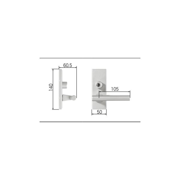 LIXIL補修用部品 リビング建材用部品 ドア ハンドル:スタイルEタイプ把手シリンダー錠[FNMZ499]【リクシル】【TOSTEM】【トステム】【木製建具】【木製ドア】【木製扉】【レバーハンドル】【取手】