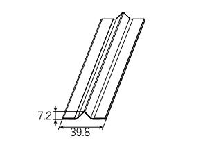 LIXIL補修用部品リビング建材用部品クローゼット折れ戸(共通):折れ戸センター隙間カバーセット[NZZZ928]