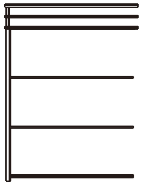 YKKAPウォールエクステリア 囲い ストックヤードII 積雪~20cm地域用 多連結ユニット[H=9尺]:幅2745mm 奥行1145mm【YKK】【波板囲い】【簡易物置】【壁付け施工】