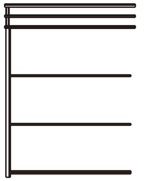 YKKAPウォールエクステリア 囲い ストックヤードII 積雪~50cm地域用 多連結ユニット[H=7尺]:幅2745mm 奥行1445mm【YKK】【波板囲い】【簡易物置】【壁付け施工】