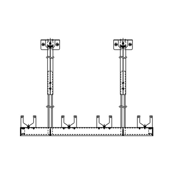 YKKAPオプションウォールエクステリアテラス屋根6TC:物干しセット吊り下げ式ロングタイプ1本入り