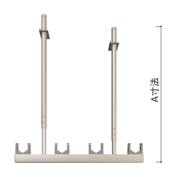 YKKAPオプションウォールエクステリアテラス屋根6TC:物干しセット引掛け式標準1本入り