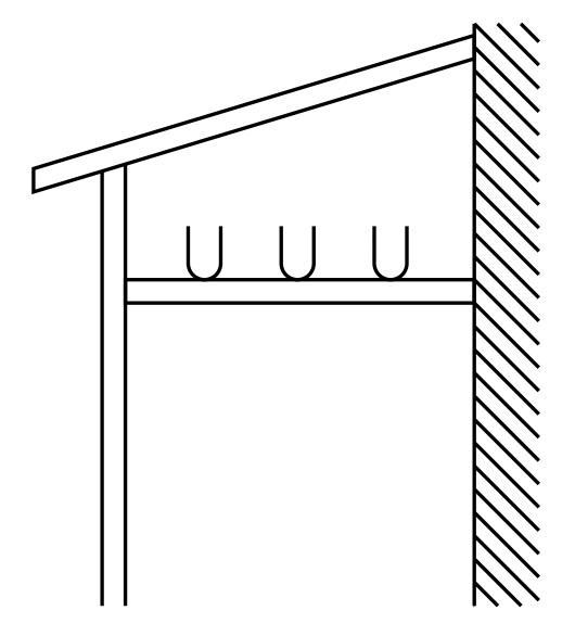 YKKAPオプションウォールエクステリアテラス屋根6TC:物干しセット3本入り