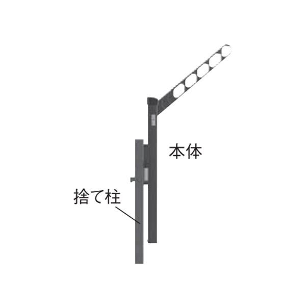 YKKAPオプション ウォールエクステリア バルコニー バルコニーBC-X型:物干しセット 収納式 1本入り