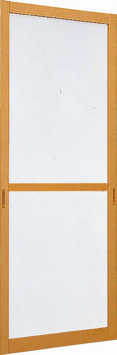 YKKAPオプション リフォーム玄関引戸 取替玄関引戸:ひのき調用 中桟付スライド網戸 4枚建用