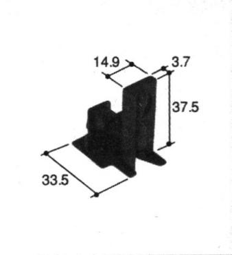 旧立山アルミ補修用部品引違い窓ガイド:ガイド[PKT2185]
