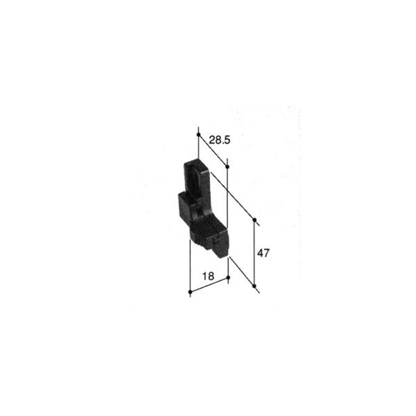 旧立山アルミ補修用部品引違い窓サブロック:サブロック(召合かまち)[PKK1070]