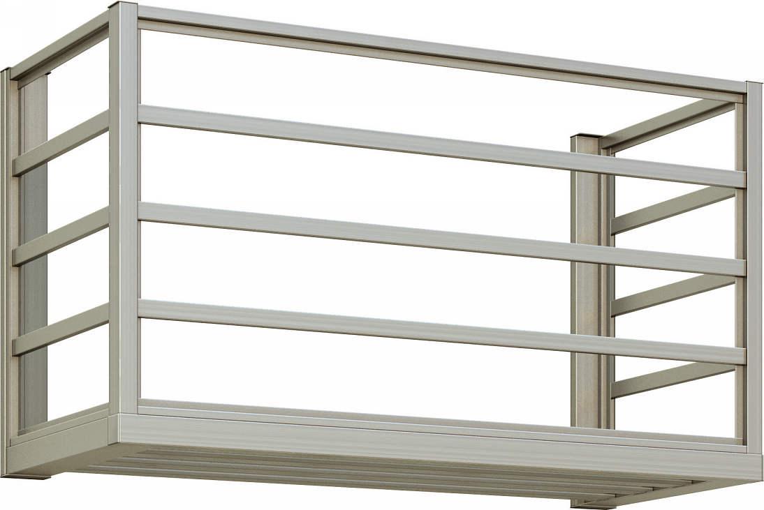 【超お買い得!】 YKKAP窓まわり 横格子:出幅450mm[幅910mm×高600mm]:ノース&ウエスト エアコン室外機置き-木材・建築資材・設備