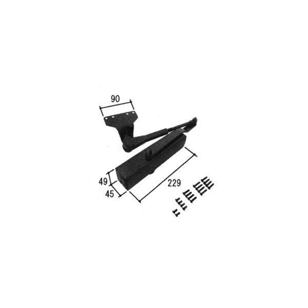 旧立山アルミ補修用部品 勝手口 ドアクローザ:ドアクローザ(上枠)[PKD8545]【立山】【勝手口ドア】【テラスドア】【リョービ】【サンヨウ】【ドアチェック】【クローザー】