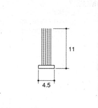 旧立山アルミ補修用部品 網戸 モヘア:モヘア 10m[PYMH053] 【立山】【アミ戸】【防虫材】