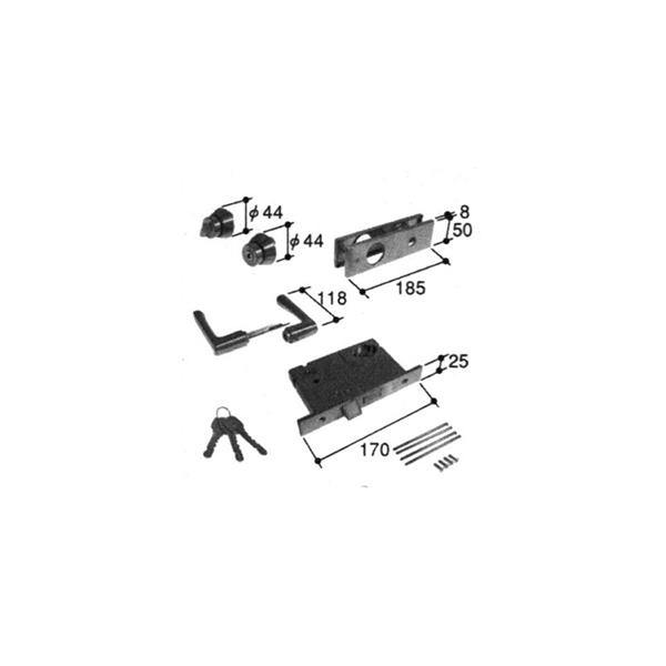 旧立山アルミ補修用部品 玄関ドア 錠:錠(かまち)[PKD8086] 【立山】【対応商品名を上部画像にてご確認下さい】【玄関扉】【店舗ドア】【アパートドア】【マンションドア】【ハンドルセット】【箱錠】【錠ケース】