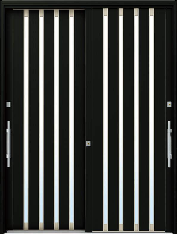 YKKAP玄関 リフォーム玄関引戸 ドアリモ[現代和風] C02[ランマ無] アルミ色[単板ガラス]:[幅1690mm×高1950mm]【YKK】【ドアリモ】【玄関引き戸】【取替】【交換】【DIY】【玄関リフォーム】