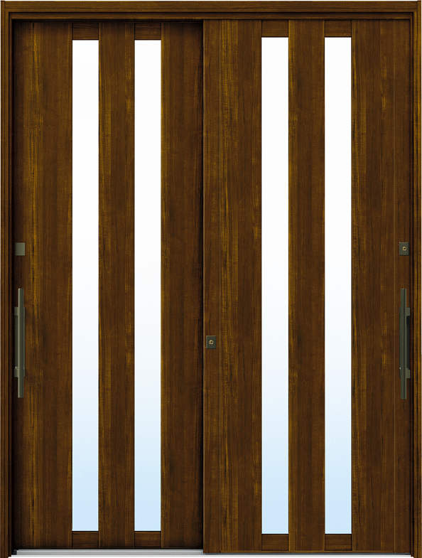 YKKAP玄関 リフォーム玄関引戸 ドアリモ[洋風ベーシック] B02[ランマ無] 木目柄[単板ガラス]:[幅1690mm×高1950mm]【YKK】【ドアリモ】【玄関引き戸】【取替】【交換】【DIY】【玄関リフォーム】