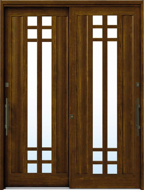 YKKAP玄関 リフォーム玄関引戸 ドアリモ[洋風ベーシック] B09[ランマ無] 木目柄[単板ガラス]:[幅1690mm×高1950mm]【YKK】【ドアリモ】【玄関引き戸】【取替】【交換】【DIY】【玄関リフォーム】