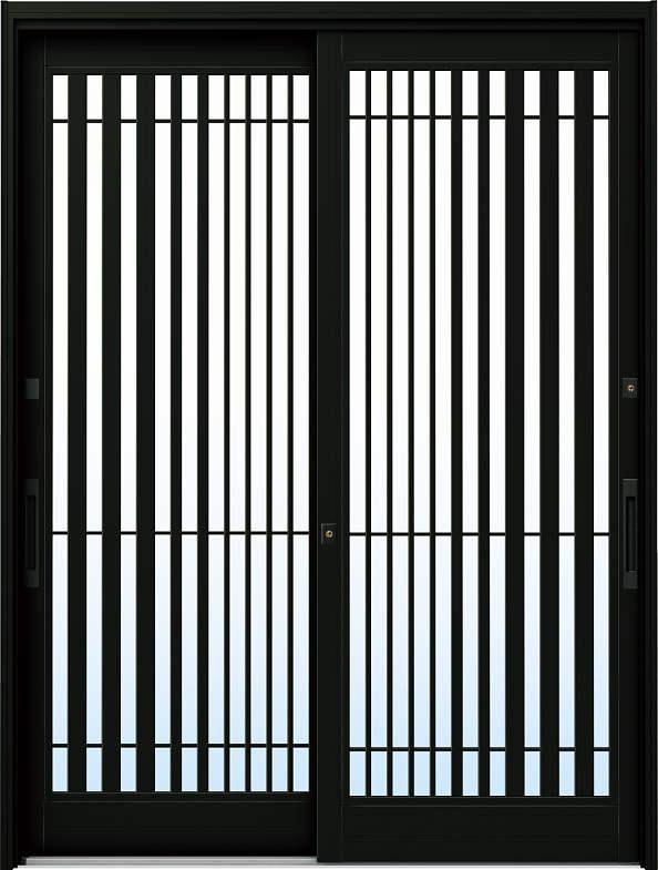 YKKAP玄関 リフォーム玄関引戸 ドアリモ[伝統和風] A15[ランマ無] アルミ色[複層ガラス]:[幅1690mm×高1950mm]【YKK】【ドアリモ】【玄関引き戸】【取替】【交換】【DIY】【玄関リフォーム】