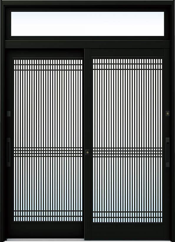 YKKAP玄関 リフォーム玄関引戸 ドアリモ[伝統和風] A05[ランマ付] アルミ色[単板ガラス]:【YKK】【ドアリモ】【玄関引き戸】【取替】【交換】【DIY】【玄関リフォーム】