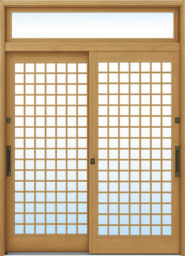 YKKAP玄関 リフォーム玄関引戸 ドアリモ[伝統和風] A12[ランマ付] 木目柄[複層ガラス]:【YKK】【ドアリモ】【玄関引き戸】【取替】【交換】【DIY】【玄関リフォーム】