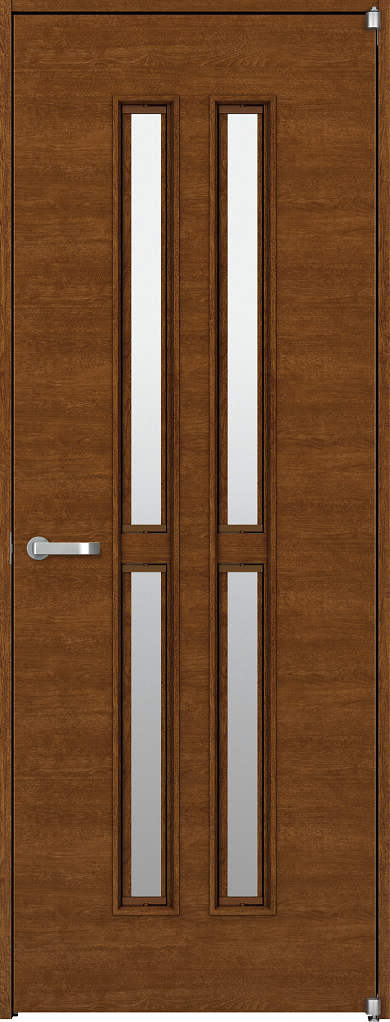 YKKAP機能ドア ラフォレスタ[通風ドア][木目横] Y5 ノンケーシング枠[集合住宅向け]:[幅848mm×高2033mm]