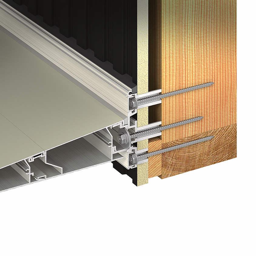 YKKAPオプション 窓まわり ひさし コンバイザー:金属サイディング用後付けアタッチメント(大)[幅2990mm]