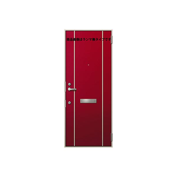 YKKAP玄関 アパートドア 2SD-II D4仕様[DH=19] ランマ付[単板ガラス仕様]:C74[幅785mm×高2264mm]