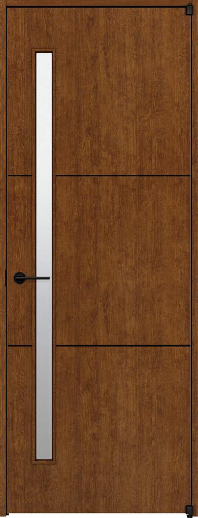 YKKAP室内ドア ラフォレスタ[スタイリッシュ][木目たて] 片開きドア T60 ノンケーシング枠:[幅752mm×高2033mm]