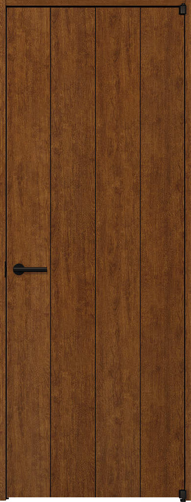 YKKAP室内ドア ラフォレスタ[スタイリッシュ][木目たて] 片開きドア T11 ノンケーシング枠[集合住宅向け]:[幅848mm×高2033mm]