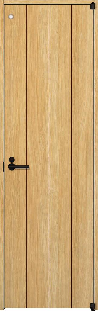 YKKAP室内ドア ラフォレスタ[スタイリッシュ][木目たて] トイレドア T11 ノンケーシング枠:[幅648mm×高2033mm]