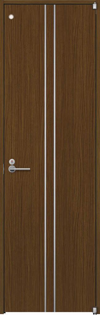 YKKAP室内ドア ラフォレスタ[スタイリッシュ][木目たて] トイレドア T13 ノンケーシング枠:[幅733mm×高2033mm]