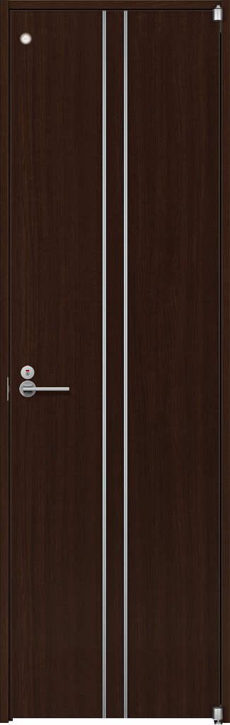 【超目玉】 YKKAP室内ドア ノンケーシング枠[集合住宅向け]:[幅778mm×高2033mm]:ノース&ウエスト トイレドア T13 ラフォレスタ[スタイリッシュ][木目たて]-木材・建築資材・設備