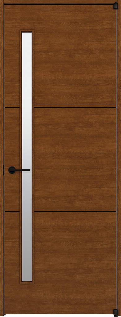 YKKAP室内ドア ラフォレスタ[スタイリッシュ][木目横] 片開きドア Y60 ノンケーシング枠[集合住宅向け]:[幅778mm×高2033mm]