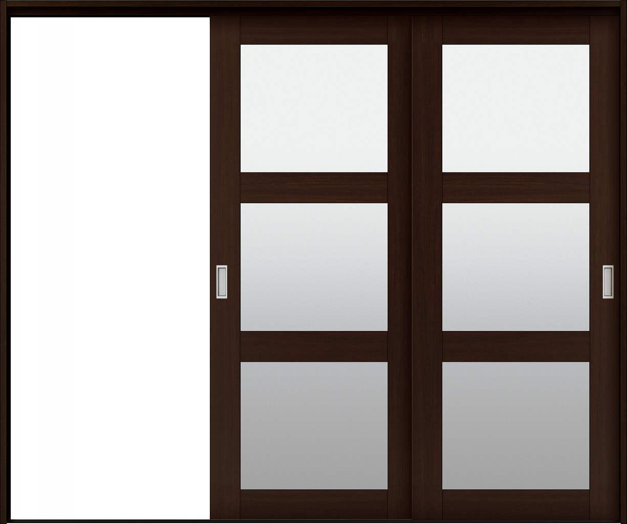 YKKAP室内引戸 ラフォレスタ[ラスティック] 2枚片引き戸 NN ケーシング枠:[幅2433mm×高2033mm]