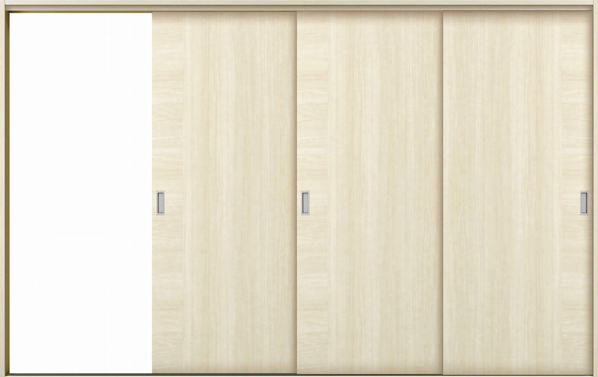 YKKAP室内引戸 ラフォレスタ[スタイリッシュ][木目たて] 3枚片引き戸 T12 ケーシング枠:[幅3222mm×高2033mm]